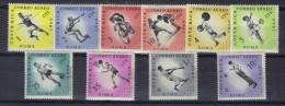 OL-B12  - COSTARICA - OLIMPIADI DI ROMA 1960 Serie Aerea 301/310   *** MNH . - Verano 1960: Roma