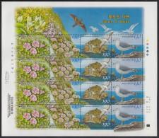 Korea South MNH Scott #2137 Minisheet Of 16 4 Strips Of 4 Flowers, Birds - Nature Of Dokdo - Corée Du Sud