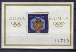 OL-B13  - COSTARICA - OLIMPIADI DI ROMA 1960 Il BF 4 Dentellato   *** MNH . - Verano 1960: Roma