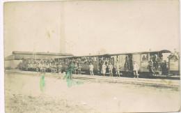 ARDOOIE  Duitse bezetting 14/18 treintje  Fotokaart
