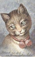 """Arthur Thiele  - Cat With A Pink Knotted Collar:""""Give Me But A Little Bit Of Love"""" - Thiele, Arthur"""