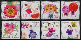 Thailand (2014) - Set -  /  Blumen - Flowers - Fleurs - Flores - Fiori - Happy New Year - Musical Instrument - Orchidee