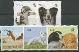 Falkland 1994 Haustiere Mit Aufdruck HONG KONG 94 603/07 Postfrisch - Falklandeilanden