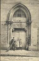 LOUVRES (S.-ET-O), PORTAIL DE L'ANCIEN HOTEL-DIEU..... SCAN R/V (SERVICE DE MOBILISATION...) - Francia