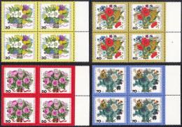 !a! BERLIN 1974 Mi. 473- 476 MNH SET Of 4 BLOCKS W/ Right Margins -Bouquet Of Flowers - [5] Berlin