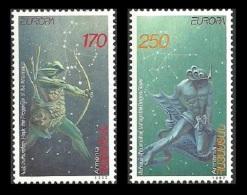 ARMENIA 1997 EUROPA LEGENDS SPACE FANTASY ZODIAC CONSTELLATIONS ARCHERY SET MNH - Armenia