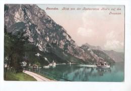 Austria - Gmunden - Traunsee - Blick Von Den Restauration Hois'n Auf Den - Steamer - Dampfer Ship - Autriche