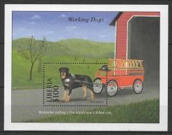 Liberia (2000) Yv. Bf. 257  /  Perros - Dogs - Chiens - Hunde - Hunde