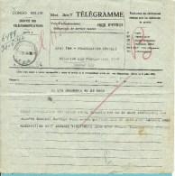TELEGRAMME  CONGO BELGE Met Stempel LEOPOLDVILLE 1946 - Congo Belge