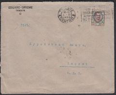 "Italy 1924, Cover Trieste To Zagreb W./ Postmark Trieste ""Eduard Grieme"" - 1900-44 Vittorio Emanuele III"