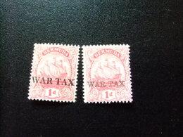 BERMUDA - BERMUDES - GRAND VOILIER - WAR TAX - 1918 - Yvert Nº 53/54 ** MNH - Bermuda