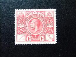 BERMUDA - BERMUDES - TERCENTENARY  OF REPRESENTATIVE INSTITUTIONS  - 1921 - Yvert Nº 66 º FU - Bermudas