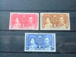 BERMUDA - BERMUDES - COMM.  DU COURONNEMENT DE GEORGE VI - 1937 - Yvert Nº 101 / 103 º FU - Bermudas