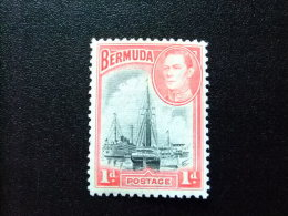 BERMUDA - BERMUDES - PORT HAMILTON - SHIPS IN HAMILTON HARBUR - Yvert Nº 104 * MH - Bermudas
