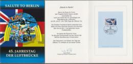 "Bund + Berlin: Minister Card - Ministerkarte, Mi-Nr. 1597, SST, ""Salute To Berlin - Beendigung Der Luftbrücke""  X - Covers & Documents"