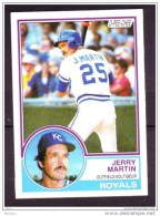 Canada, 1983, Carte De Baseball, O-PEE-CHEE, Jerry Martin, Royals - Non Classés