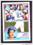 Canada, 1983, Carte De Baseball, O-PEE-CHEE, Jerry Martin, Royals - Andere Sammlungen
