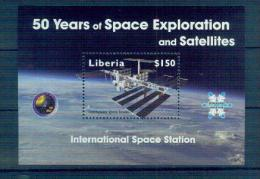 T12 2008 ISS Sheetlet MNH Liberia - Space