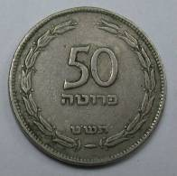 ISRAEL 50  PRUTA PRUTAH 1949 KM 13.1 , TEMPLATE LISTING YOU GET FINE TO XF COIN +GIFT, - Israel