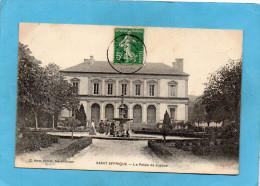 SAINT AFRIQUE-Le Palais De Justice -la Fontaine Animée-- A Voyagé En 1909-édition Amat - Saint Affrique
