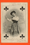 Cartes à Jouer - Trèfle - Dame De Trèfle - Playing Cards
