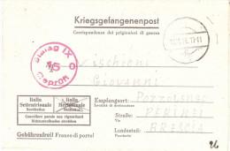 CORRISPONDENZA DEI PRIGIONIERI DI GUERRA RETRO ANN.POZZOLENGO - Marcophilie