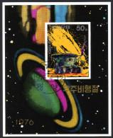 Nord KOREA 1976 - Russisches Mondmobil Lunochod - Block 24 - Space