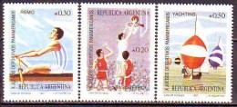 ARGENTINA   -  SPORT - BASKET - SAILING  -  **MNH - 1987 - Vela