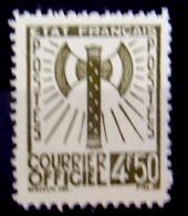 FRANCE -1942 - COURRIER OFFICIAL - FRANCISQUE - SERVICE TS 11  - 4,50 F - NEUF SANS CHARNIÈRE - - Neufs