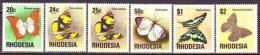 RHODESIA  -  BUTTERFLIES  - MNH** - 1976 - Mariposas