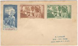 FRANCIA - France - GUADELOUPE - 1942 - Poste Aérienne - Protection De L´Enfance Indigène + Quinzaine Impériale - Sur ... - 1942 Protection De L'Enfance Indigène & Quinzaine Impériale (PEIQI)