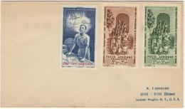 FRANCIA - France - ETABts FRcais Dans L'Inde - 1942 - Poste Aérienne - Protection De L´Enfance Indigène + Quinzaine I... - 1942 Protection De L'Enfance Indigène & Quinzaine Impériale (PEIQI)