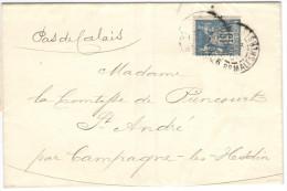 FRANCIA - France - 1900 - 15c - Carte Lettre, Comtesse De Riencourt - Viaggiata Da Paris Per Campagne-lès-Hesdin - 1877-1920: Semi Modern Period
