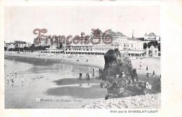 (64) Biarritz - La Grande Plage - Edité Pour Le Chocolat Louit - Trés Bon état - 2 SCANS - Biarritz