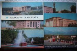 KAZAKHSTAN. ALMATY Capital. 10 Postcards Lot. . 1972 - Rare! - Kazakhstan