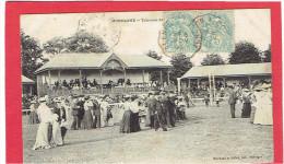MORTAGNE 1905 TRIBUNES DE L HIPPODROME CHAMP DE COURSE CARTE EN BON ETAT - Mortagne Au Perche