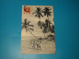 Cpa   24  Cocoanut  Palms On Sea-shore   COLOMBO   Sri Lanka - Sri Lanka (Ceylon)