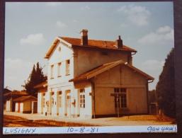 1 Photo - Gare De LUSIGNY Quai - Treinen