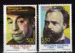 Guinea Ecuatorial 2004.Pablo Neruda.Antonin Dvorak.MNH - Guinée Equatoriale