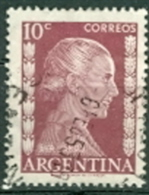 Argentinien 10 C. Gest. Evita Peron TGST 1953 - Argentinien