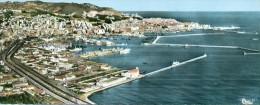 ALGER Vue Panoramique Sur Le Port  A Droite La Casbah  ( Carte Grand Format  ) Non Circulé - Algiers