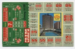 NV ~ Hotel Sahara LAS VEGAS Nevada c1960�s Craps Gaming Guide Postcard