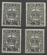 ROMANIA - 1932-37 Postage Dues. Scott J83-86. MNH ** (2l Mint Lightly Hinged ) - Impuestos