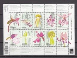 Netherlands 2014,10V In Sheetlet,flowers,bloemen,blumen,fleurs,flores,fiori,MNH/Postfris(L1504) - Orchideeën
