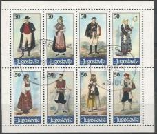 YU 1986-2159-66 COSTUME, YUGOSLAVIA, 1 X 8v, Used - Kostüme