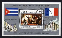 CUBA 1989 - 200. Jahrestag Der Französischen Revolution - Block 116 - Franz. Revolution