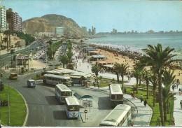 ESPAGNE . ALICANTE . PLAGE DE POSTIGUET  .  STATION  DES AUTOBUS - Alicante