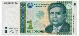 TADJIKISTAN 1 SOMONI 1999(2010) Pick 14A Unc - Tajikistan