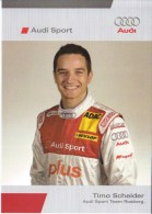 Timo Scheider  -  2006 DTM Pilot  -  Audi A4   -  Carte Promo - Le Mans