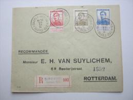 1915, BAARLE - DUC , Recommande   A Rotterdam ,  2 Scans - 1915-1920 Albert I